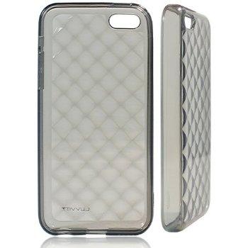 Image of LUVVITT 3D JEWEL Soft Slim TPU Case / Cover for iPhone 5C - Transparent Black