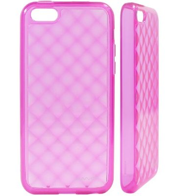 Image of LUVVITT 3D JEWEL Soft Slim TPU Case / Cover for iPhone 5 C - Transparent Pink