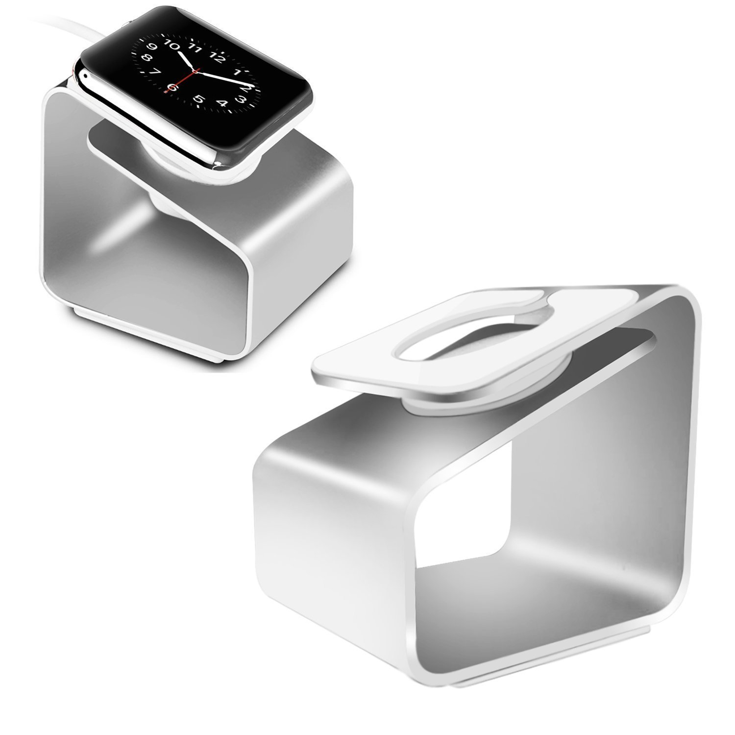 Image of LUVVITT Aluminum Charging Stand for Apple Watch (LUV-1034) - Silver