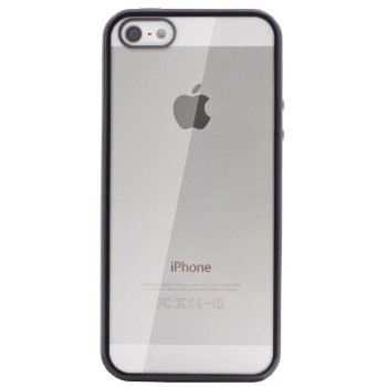 LUVVITT CLEARVIEW Scratch-Resistant Case for iPhone 5 / 5S - Black
