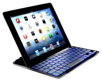 LUVVITT BACKLIT Ultrathin Keyboard Cover for the new iPad 4 / iPad 3 / iPad 2 - Black