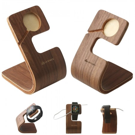 LUVVITT ARC Apple Watch Wood Charging Stand / Docking Station (LUV-1032)