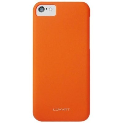 LUVVITT SKINNY Matte Slim Hard Case Back Cover for Apple iPhone 5C - Orange