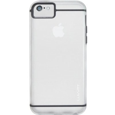 LUVVITT HYBRID Slim Clear Back Case with Bumper for iPhone 5C - Clear / Gray