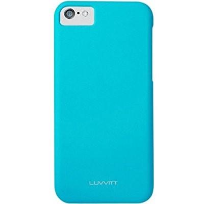 LUVVITT SKINNY Matte Slim Hard Case Back Cover for Apple iPhone 5C - Blue