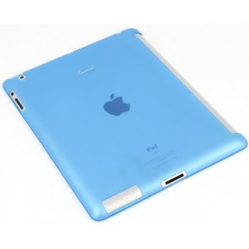 LUVVITT DOLCE Smart Cover Compatible TPU Case (BACK COVER) for iPad 2/3/4 Blue