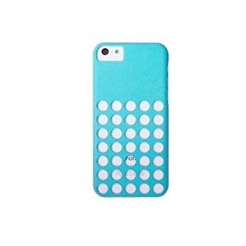 LUVVITT SKINNY Matte Slim Hard Case Back Cover for iPhone 5C with Holes - Blue