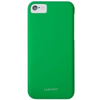 LUVVITT SKINNY Matte Slim Hard Case Back Cover for Apple iPhone 5C - Green