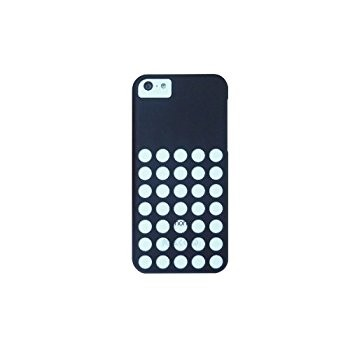 LUVVITT SKINNY Matte Slim Hard Case Back Cover for iPhone 5C with Holes Black