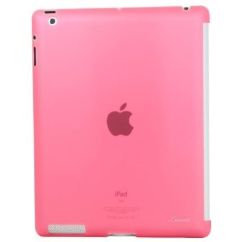 LUVVITT GLAZE Smooth Finish Hard Back Comp.w/Smart Cover for iPad 2/3/4 - Pink