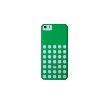 LUVVITT SKINNY Matte Slim Hard Case Back Cover for iPhone 5C with Holes Green