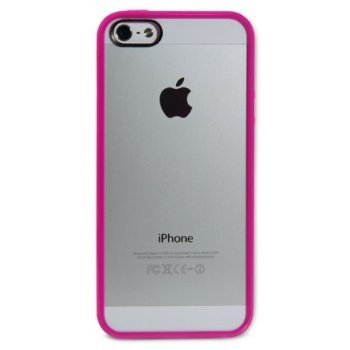 LUVVITT CLEARVIEW Scratch-Resistant Case for iPhone 5 / 5S - Fuchsia Pink
