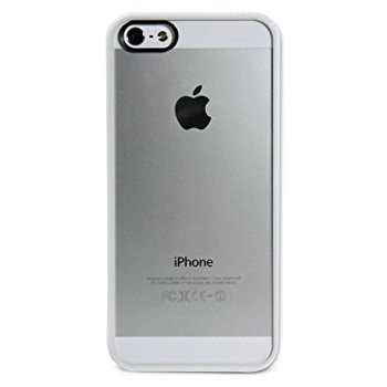 LUVVITT CLEARVIEW Slim Clear Back Case with Bumper for iPhone 5 / 5S - White