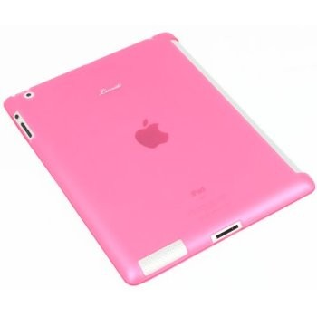 LUVVITT DOLCE Smart Cover Compatible TPU Case (BACK COVER) for iPad 2/3/4 Pink