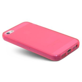 LUVVITT FROST Soft Slim Clear Case / Back Cover for iPhone 5 / 5S - Hot Pink