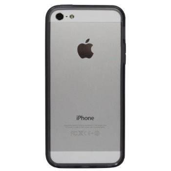 LUVVITT Bumper for iPhone 5 (Retail Packaging) - Transparent Black