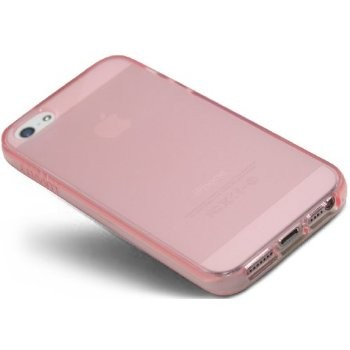 LUVVITT FROST Soft Slim Clear Case / Back Cover for iPhone 5 / 5S - Pink