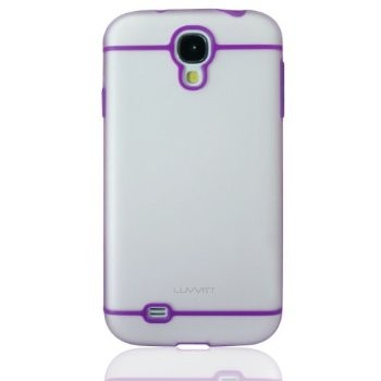 LUVVITT HYBRID Case / Cover for GalaxyS4 - Clear / Purple