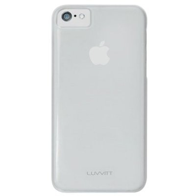 LUVVITT SKINNY Matte Slim Hard Case Back Cover for iPhone 5C - / Frost / Clear