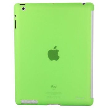 LUVVITT GLAZE Smooth Finish Hard Back Comp.w/Smart Cover for iPad 2/3/4 Green