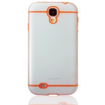 LUVVITT HYBRID Case / Cover for GalaxyS4 - Clear / Orange