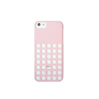 LUVVITT SKINNY Matte Slim Hard Case Back Cover for iPhone 5C with Holes - Pink