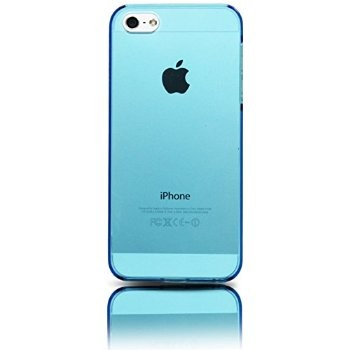 LUVVITT CRYSTAL VIEW Hard Shell Back Hard Case for iPhone 5 / 5S Crystal Clear Blue