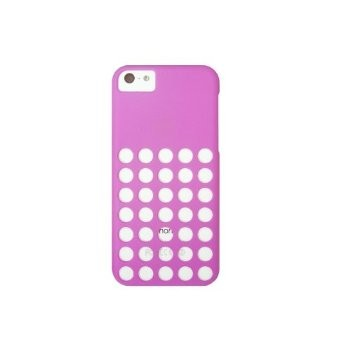 LUVVITT SKINNY Matte Slim Hard Case Back Cover for iPhone 5C w/Holes - Purple