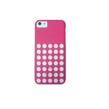 LUVVITT SKINNY Matte Slim Hard Case Back Cover for iPhone 5C w/Holes Hot Pink