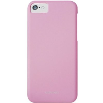 LUVVITT SKINNY Matte Slim Hard Case Back Cover for Apple iPhone 5C - Pink