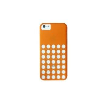 LUVVITT SKINNY Matte Slim Hard Case Back Cover for iPhone 5C w/Holes - Orange