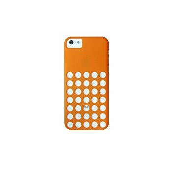 LUVVITT SKINNY Matte Slim Hard Case Back Cover for iPhone 5C w/Holes - Orange