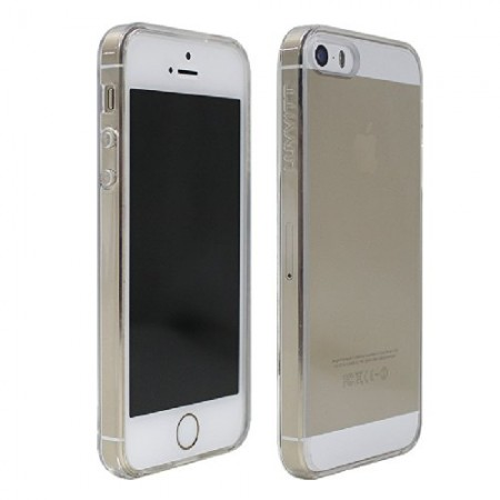 LUVVITT CLEARVIEW Slim Clear Back Case with Bumper for iPhone 5 / 5S