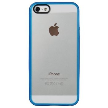 LUVVITT CLEARVIEW Scratch-Resistant Case for iPhone 5 / 5S - Transparent Blue
