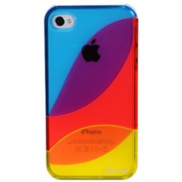 LUVVITT LEAF Case for iPhone 4 & 4S - Blue/Red/Yellow
