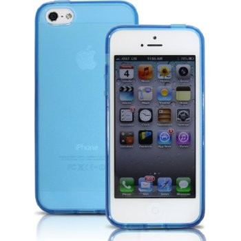 LUVVITT FROST Soft Slim Clear Case / Back Cover for iPhone 5 / 5S - Blue