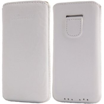 LUVVITT Genuine Leather Pouch Case for iPhone 5 / 5S / 5C - White