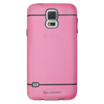 LUVVITT HYBRID Galaxy S5 Case | Case / Cover for Galaxy S5 - Pink / Gray