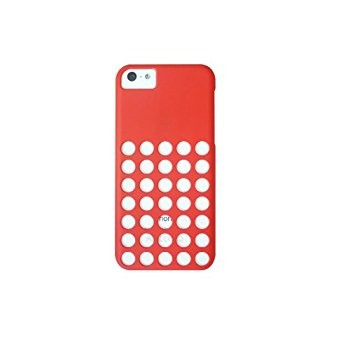 LUVVITT SKINNY Matte Slim Hard Case Back Cover for iPhone 5C with Holes - Red