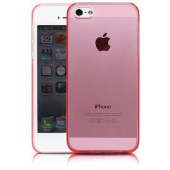 iphone 5 pink clear case