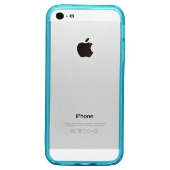 LUVVITT Bumper for iPhone 5 (Retail Packaging) - Transparent Blue