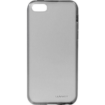 LUVVITT FROST Soft Slim TPU Case / Cover for iPhone 5C - Transparent Black