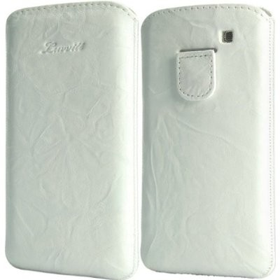 LUVVITT Genuine Leather Pouch for Samsung Galaxy S3 SIII - White