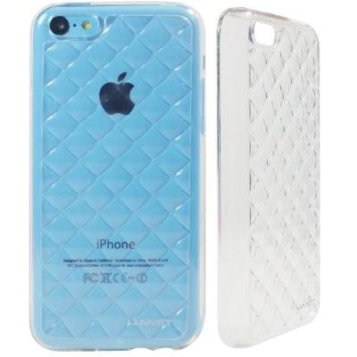 LUVVITT 3D JEWEL Soft Slim Trasparent TPU Case Cover for iPhone 5C Transparent