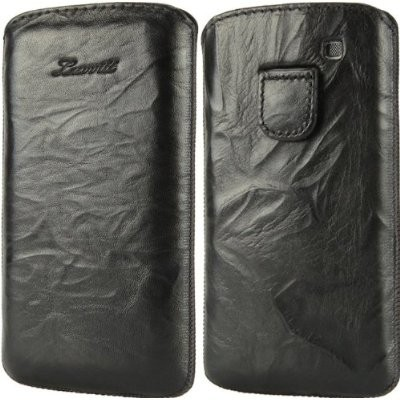 LUVVITT Genuine Leather Pouch for Samsung Galaxy S3 SIII - Black