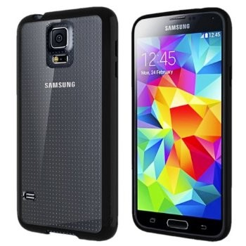 LUVVITT CLEARVIEW Case for Samsung Galaxy S5   Bumper with Back Cover - Black