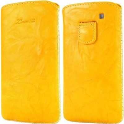 LUVVITT Genuine Leather Pouch for Samsung Galaxy S3 SIII - Yellow