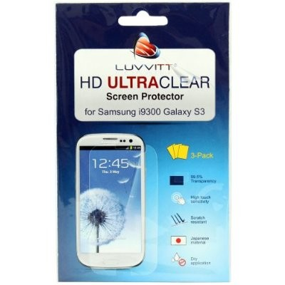 LUVVITT HD Ultra-Clear Screen Protector for Samsung Galaxy S3 (3-PACK)