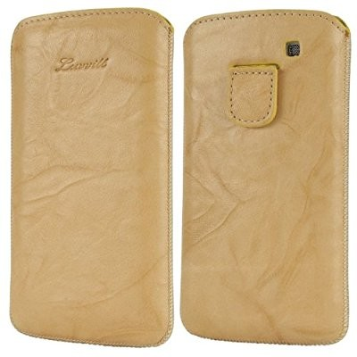 LUVVITT Genuine Leather Pouch for Samsung Galaxy S3 SIII - Beige