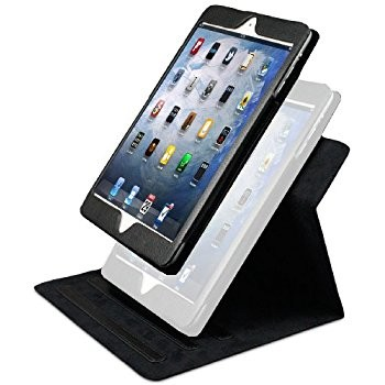 LUVVITT SHIFTER 2 Piece Convertible Case/Cover Combo for iPad MINI 1/2 - Black